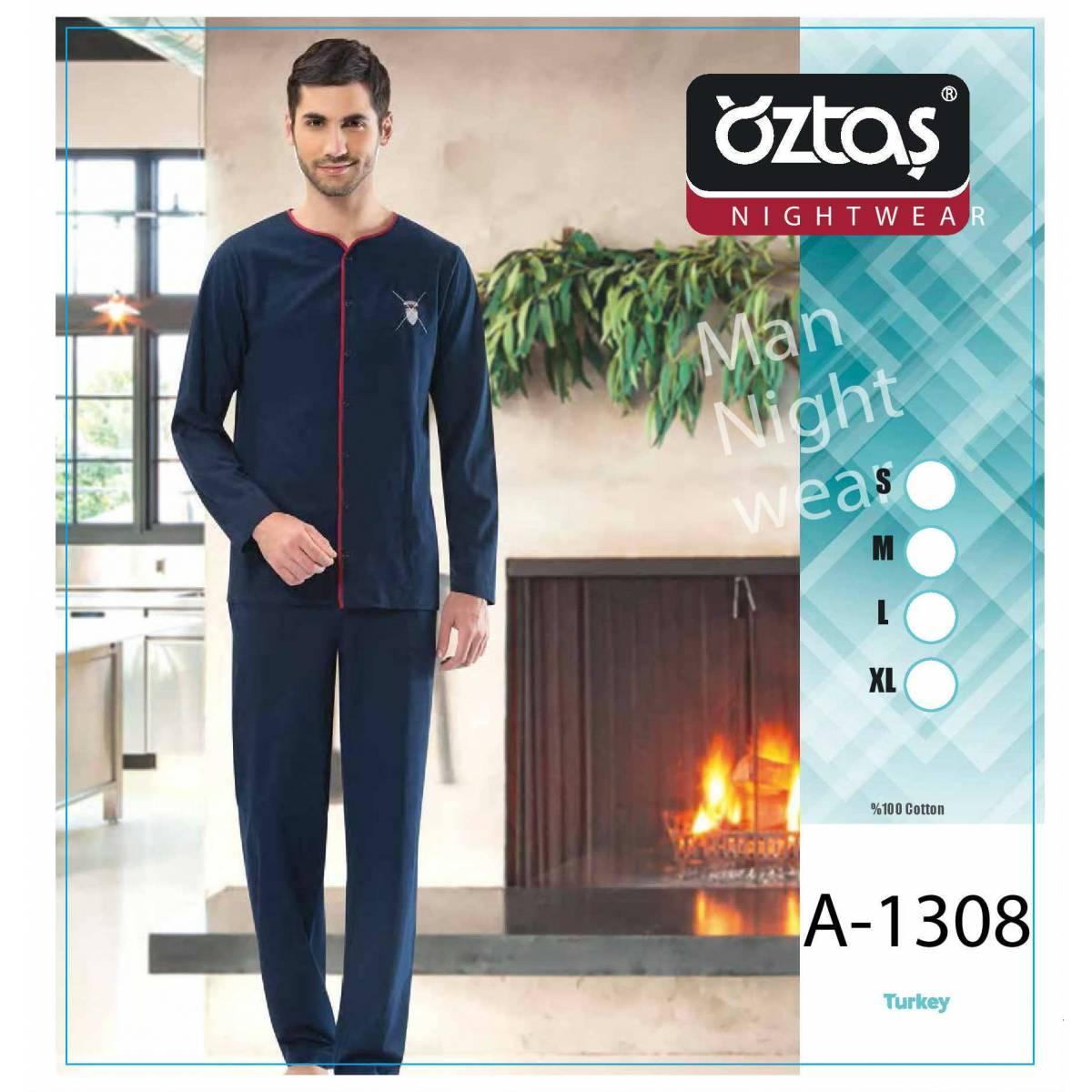 Пижама мужская oztas темно-синяя