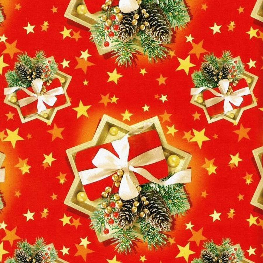 """Упаковка 1 кейса в подарочную бумагу """"Новый год в красном"""""""