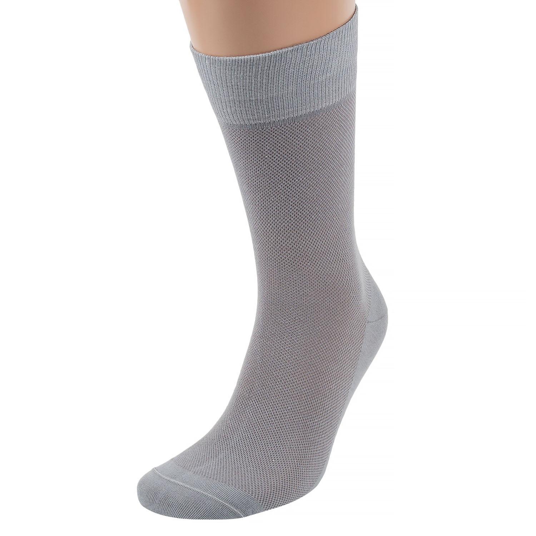 Мужские носки из вискозы и льна в сеточку ХОХ