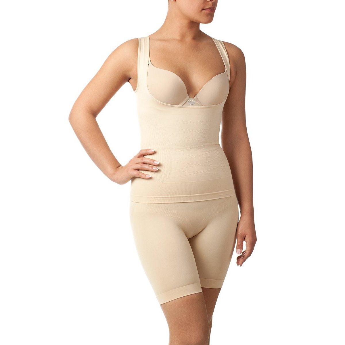 Комплект майка + шорты с сильным корректирующим эффектом для женщин Charmante телесный