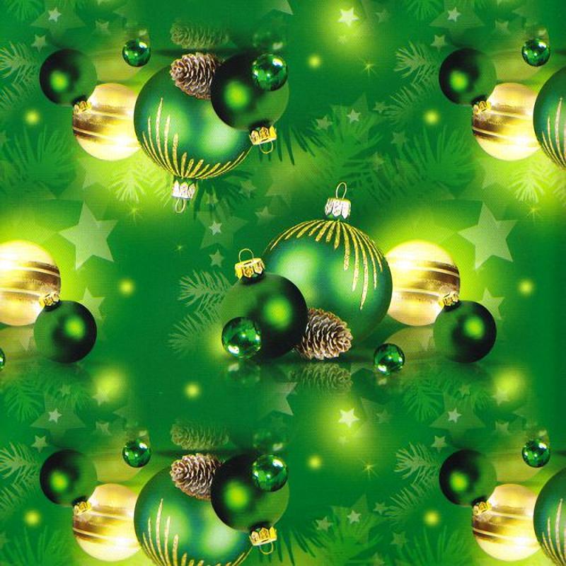 """Упаковка 1 кейса в подарочную бумагу """"Новый год в зеленом"""""""