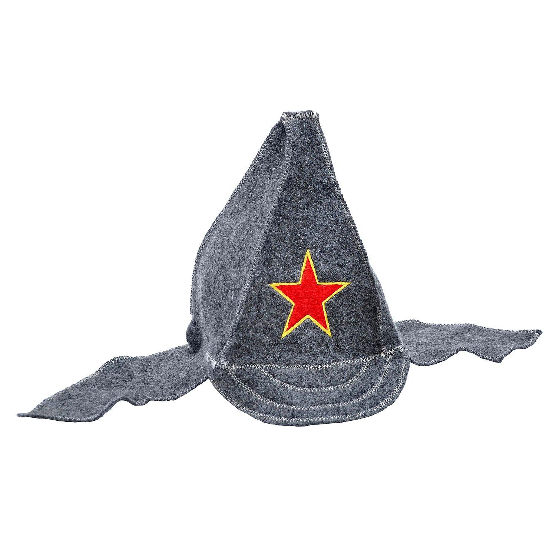 Банная шапка буденовка серая Россия
