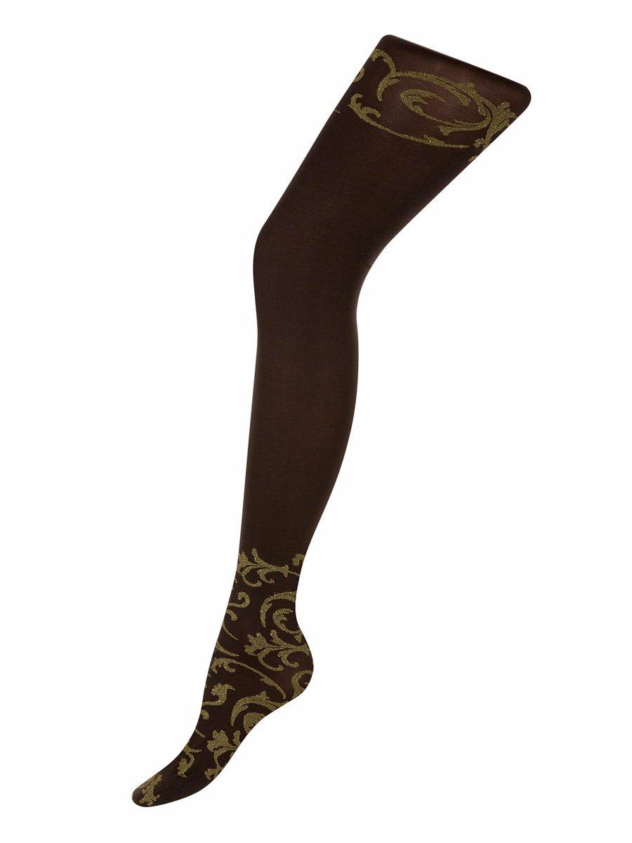 Колготки женские preference 60 Charmante тёмно-коричневый/золотой
