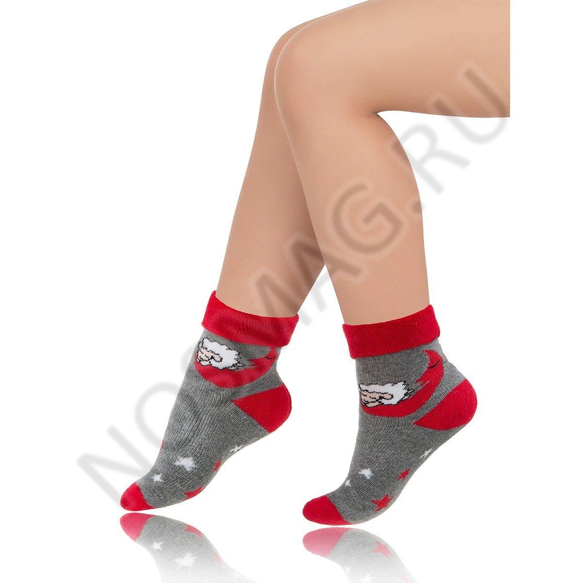 Носки детские хлопковые Charmante серые/красные