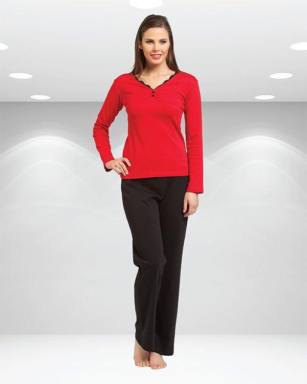 Пижама женская oztas красная