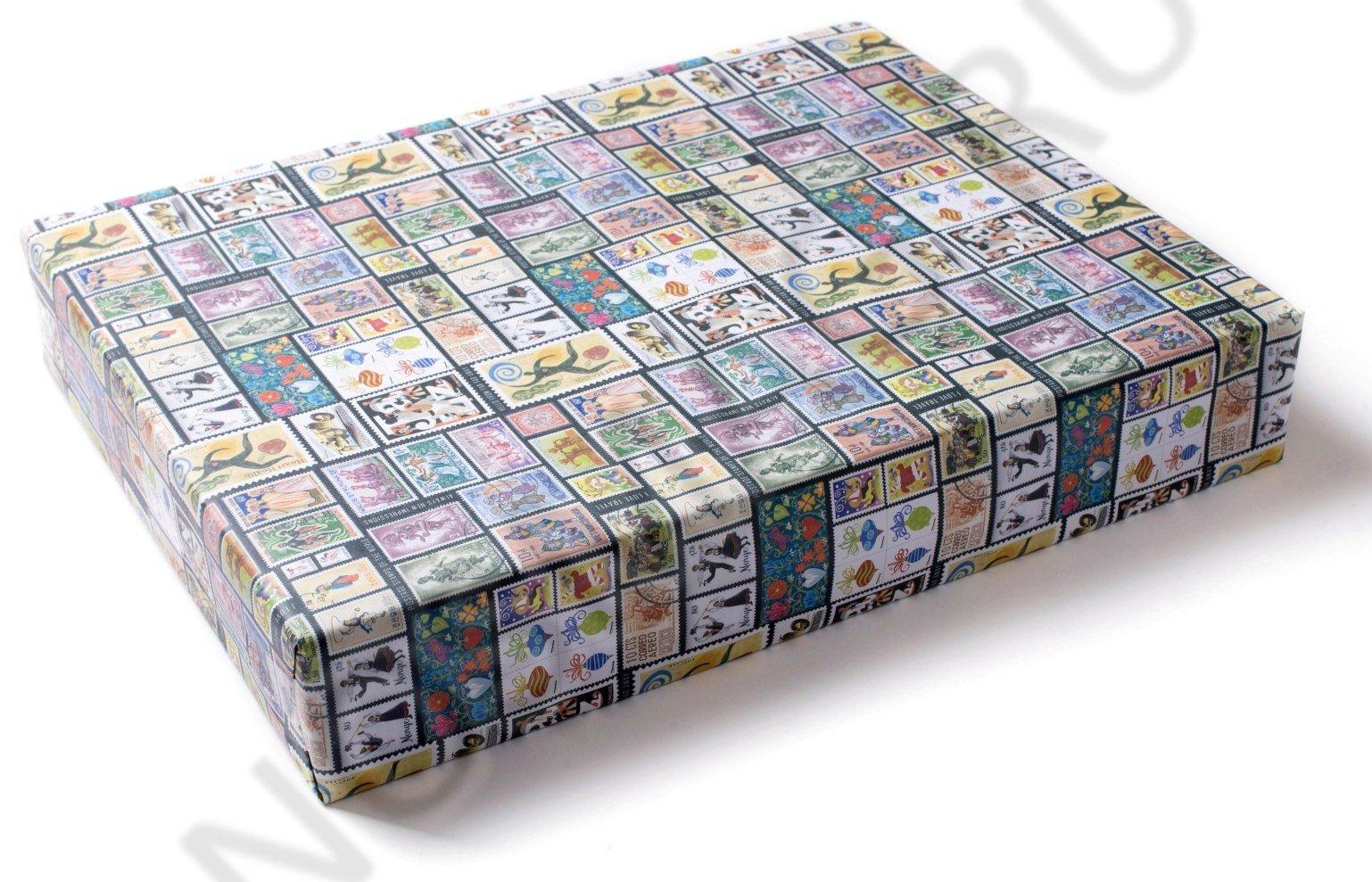 """Упаковка в подарочную бумагу """"Марки"""""""