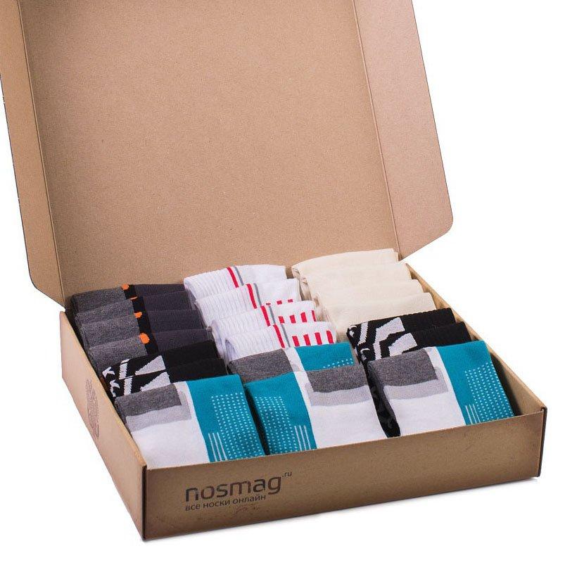 Набор носков из 20 пар в кейсе с сургучной печатью (СПОРТ, «Гранд-Сокс»)