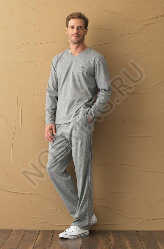 Мужская пижама blackspade серый меланж