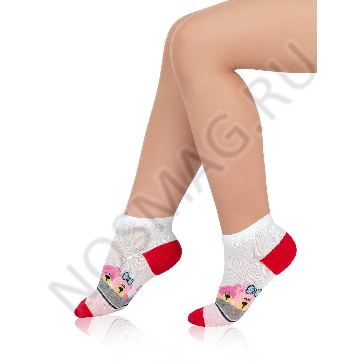 Носки детские хлопковые Charmante белые/красные