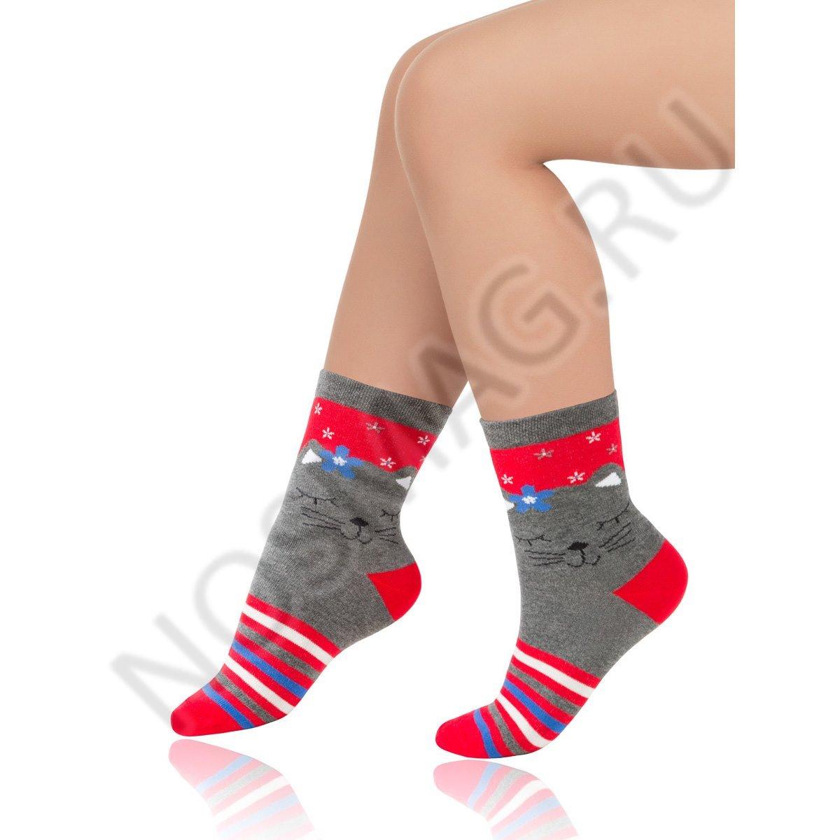 Носки детские хлопковые Charmante серые меланж