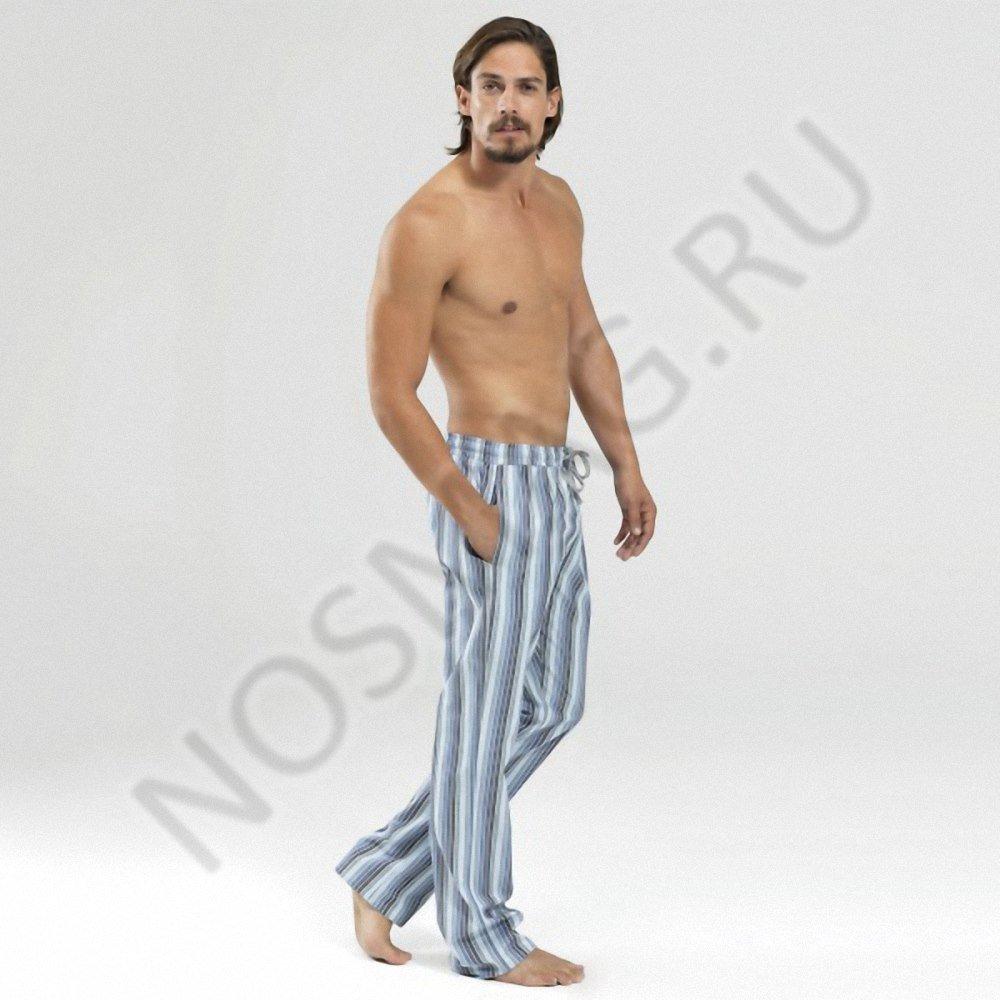 Мужские домашние брюки blackspade синяя полоска