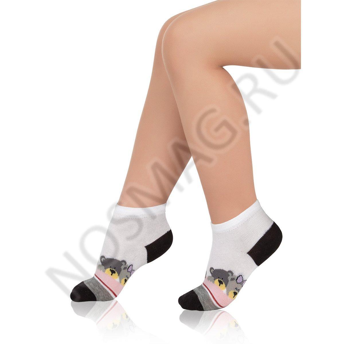 Носки детские хлопковые Charmante белые/черные