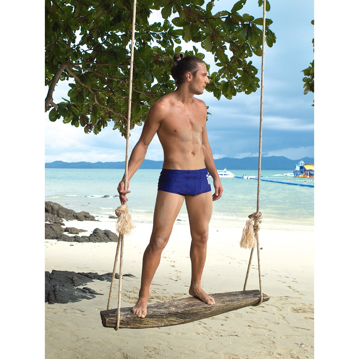 Плавки-шорты анатомические мужские Charmante синий