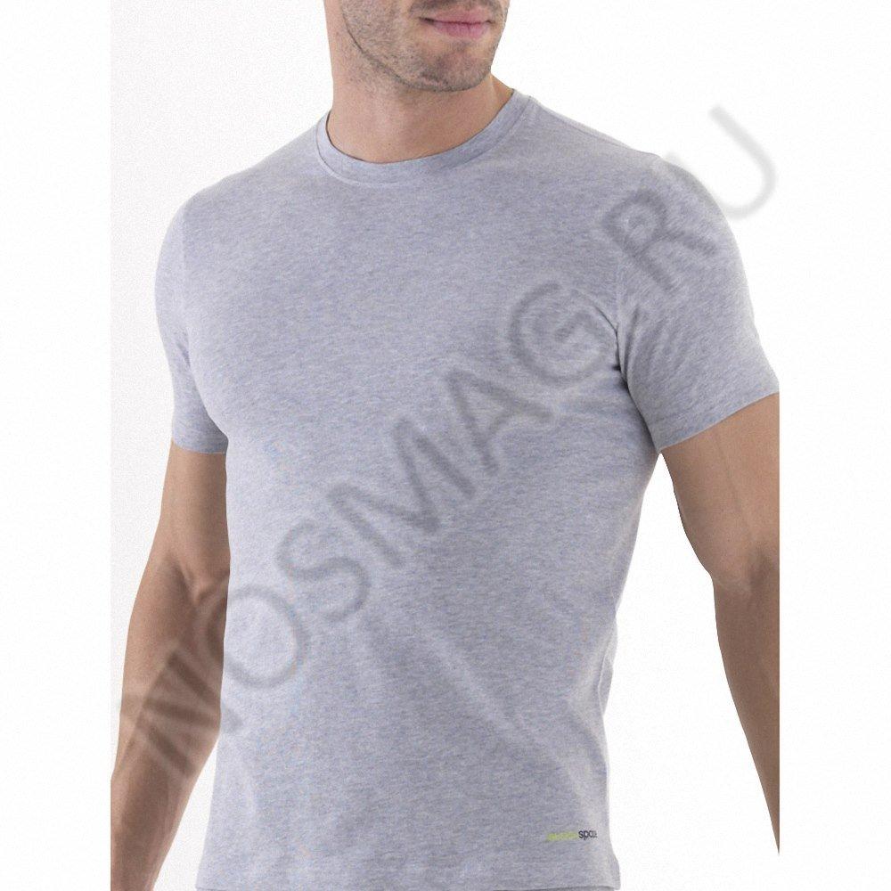 Мужская футболка blackspade серый меланж