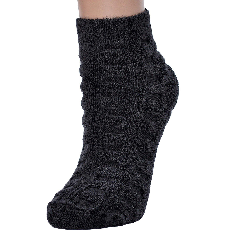 Женские бамбуковые махровые носки oztas черные Oztas, турция