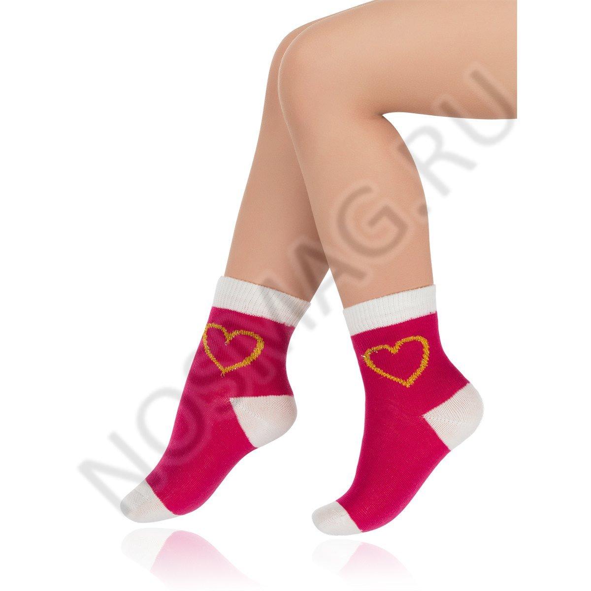 Носки детские хлопковые Charmante малиновые