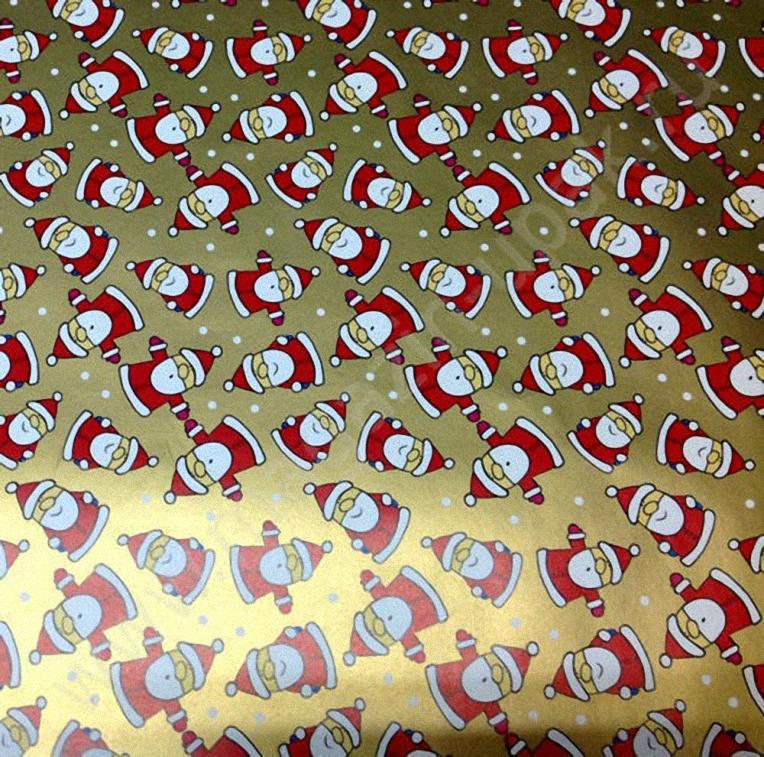 """Упаковка 1 кейса в подарочную бумагу """"Деды Морозы"""""""