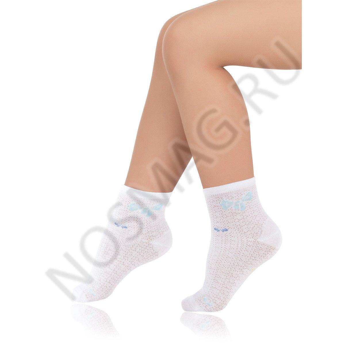 Носки детские хлопковые Charmante белые/голубые