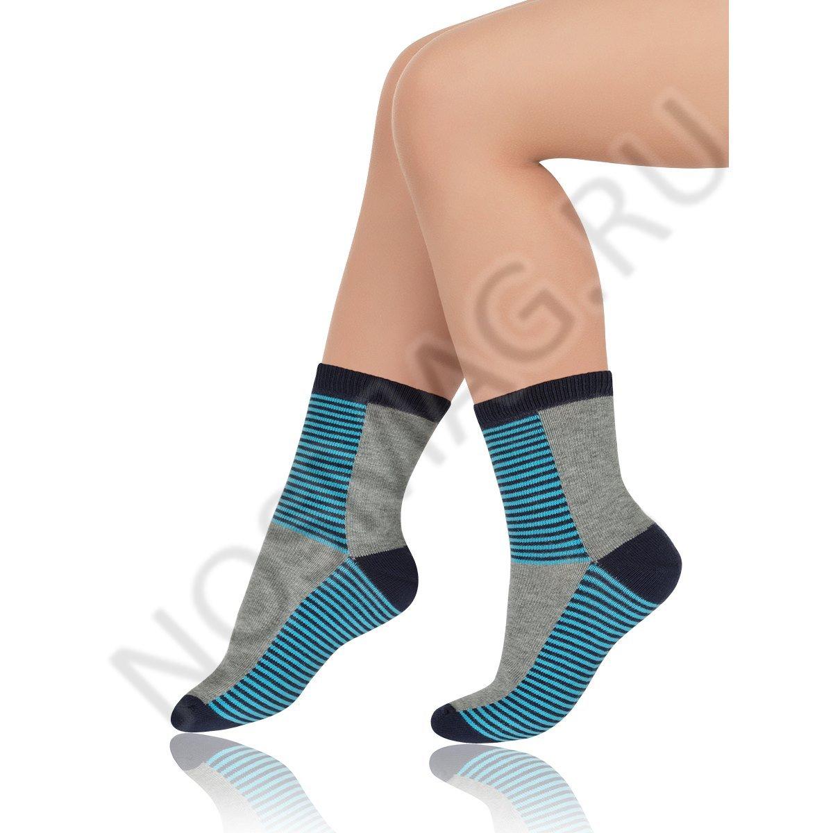 Носки детские хлопковые Charmante серый меланж/синий