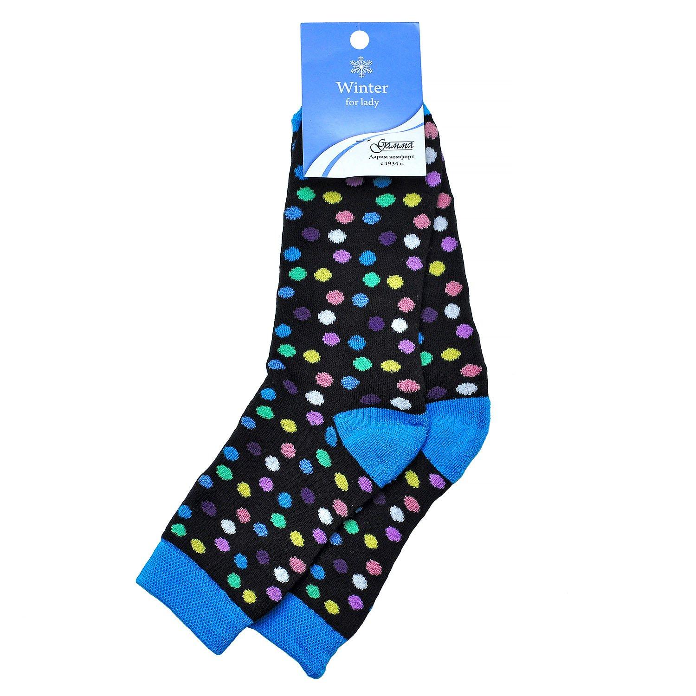 Женские махровые хлопковые носки Гамма