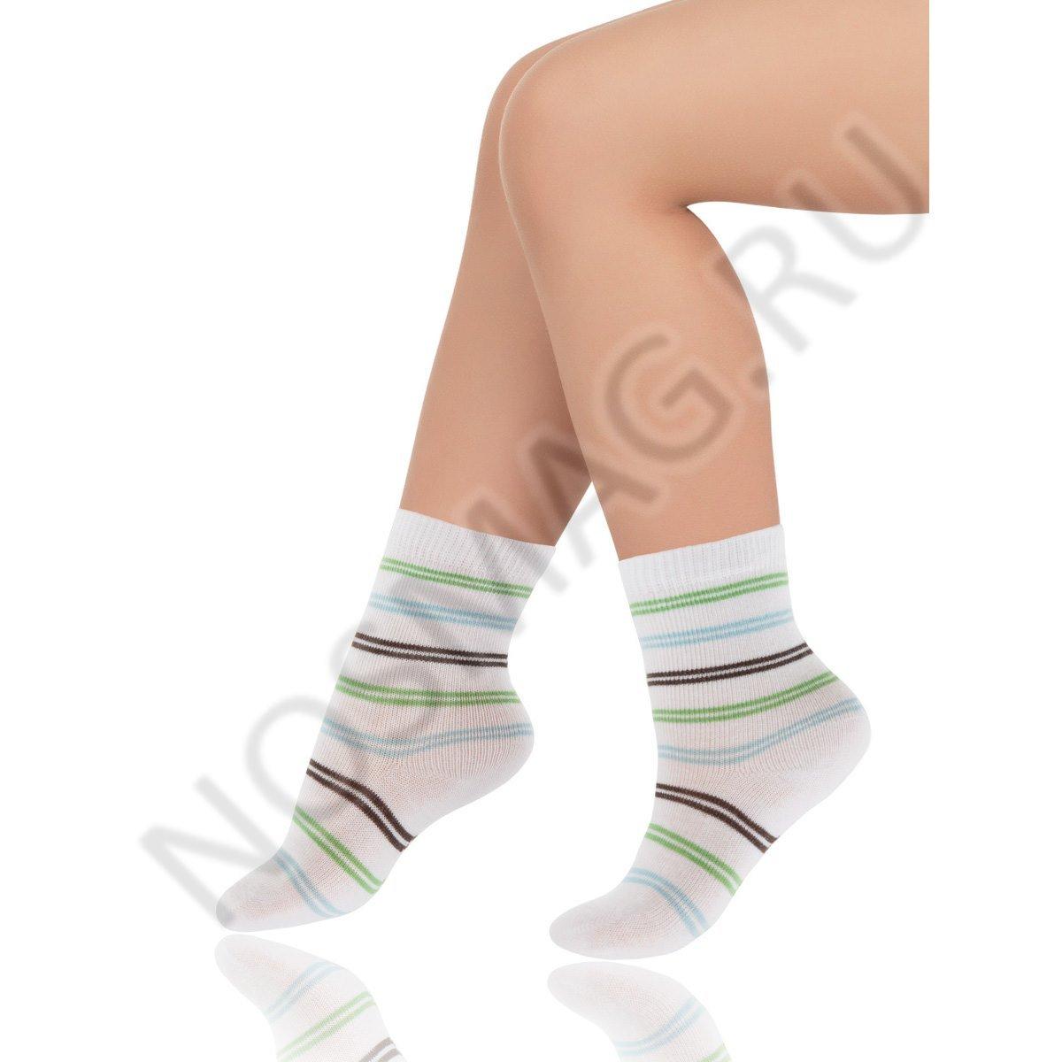 Носки детские хлопковые Charmante белый/цветная полоска