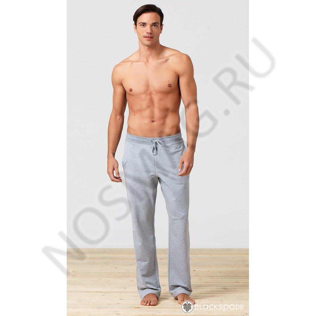 Мужские домашние брюки blackspade серый меланж