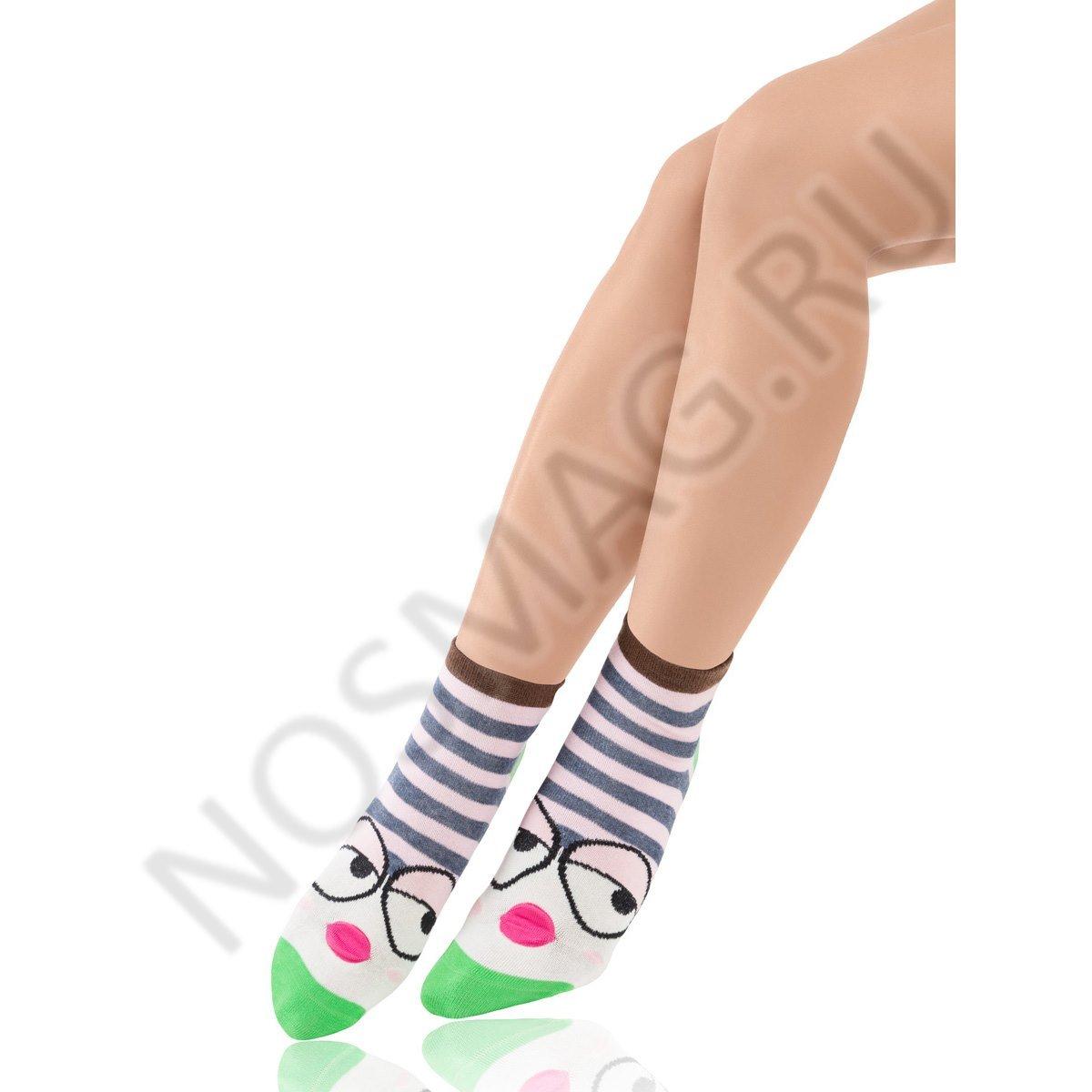 Носки детские хлопковые Charmante розовые/зеленые