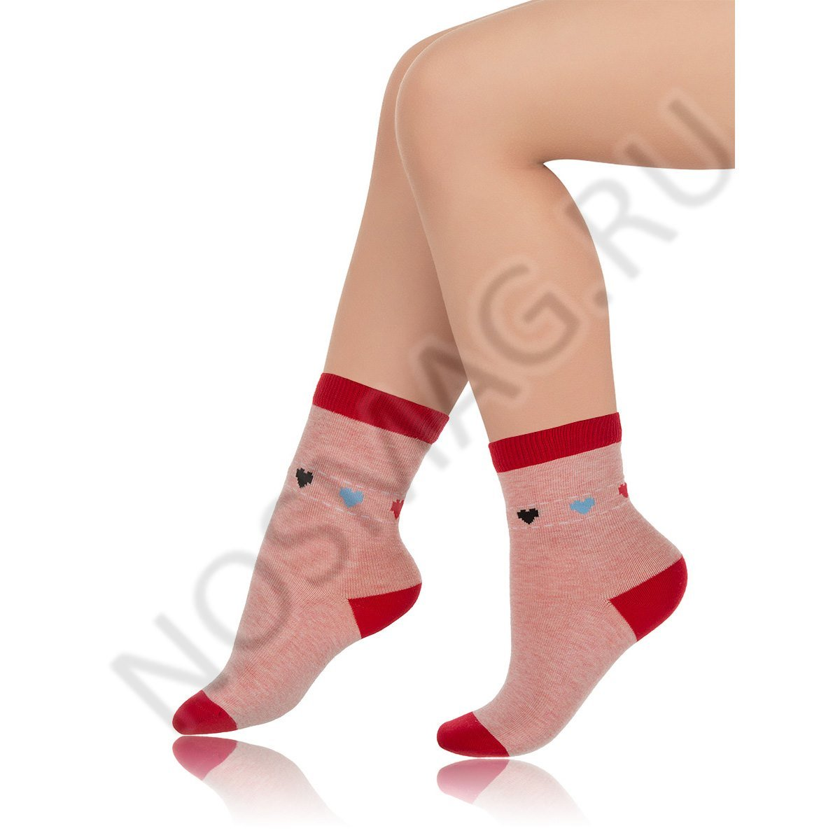 Носки детские хлопковые Charmante розовые меланж