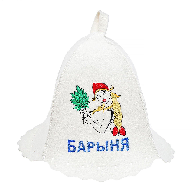 "Банная шапка белая ""барыня"" Россия"