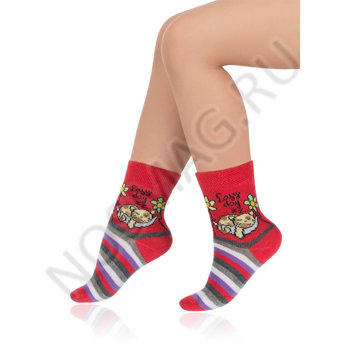 Носки детские хлопковые Charmante красные