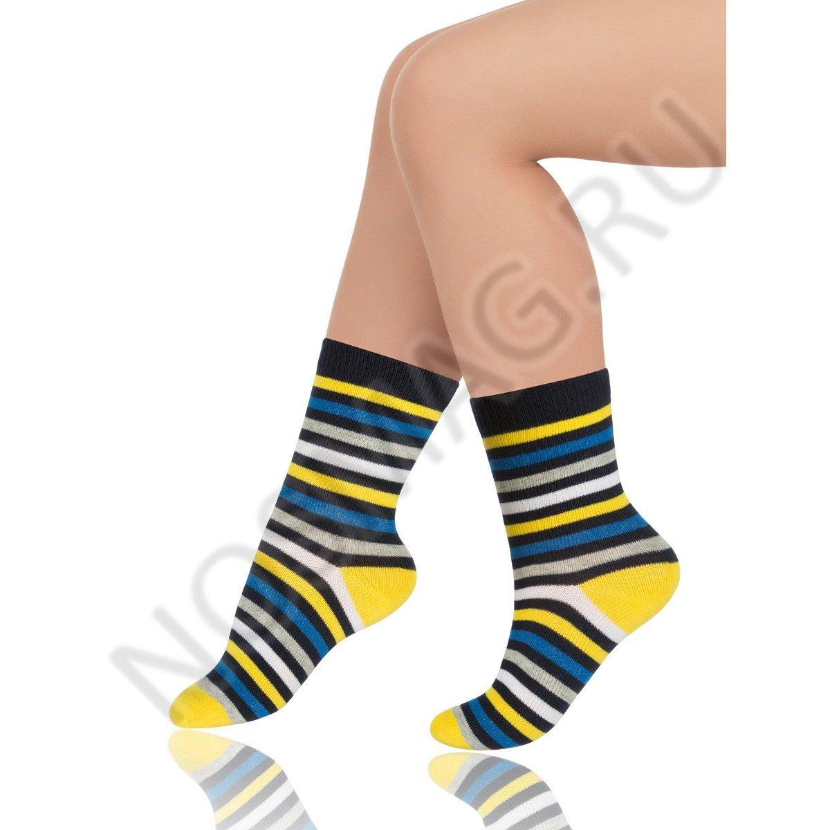 Носки детские хлопковые Charmante тёмно-синий/жёлтый