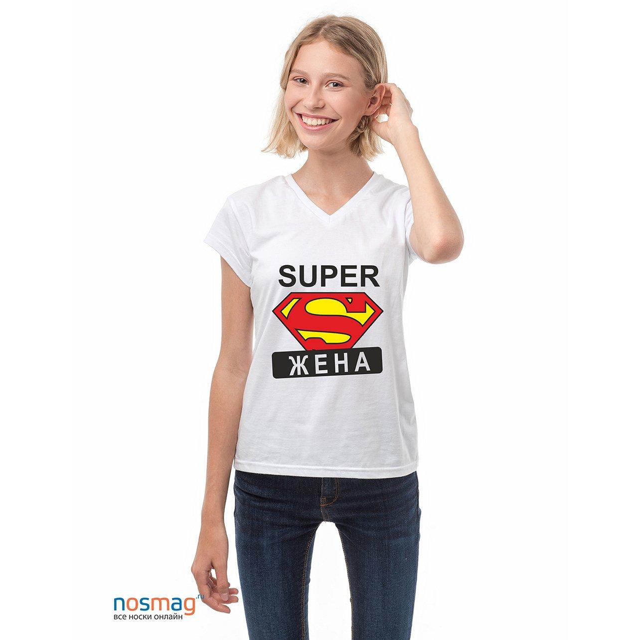 Женская футболка с рисунком Супержена