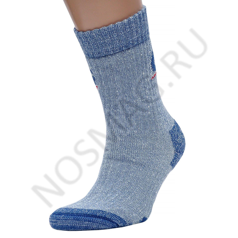 Мужские удлиненные носки guahoo голубые