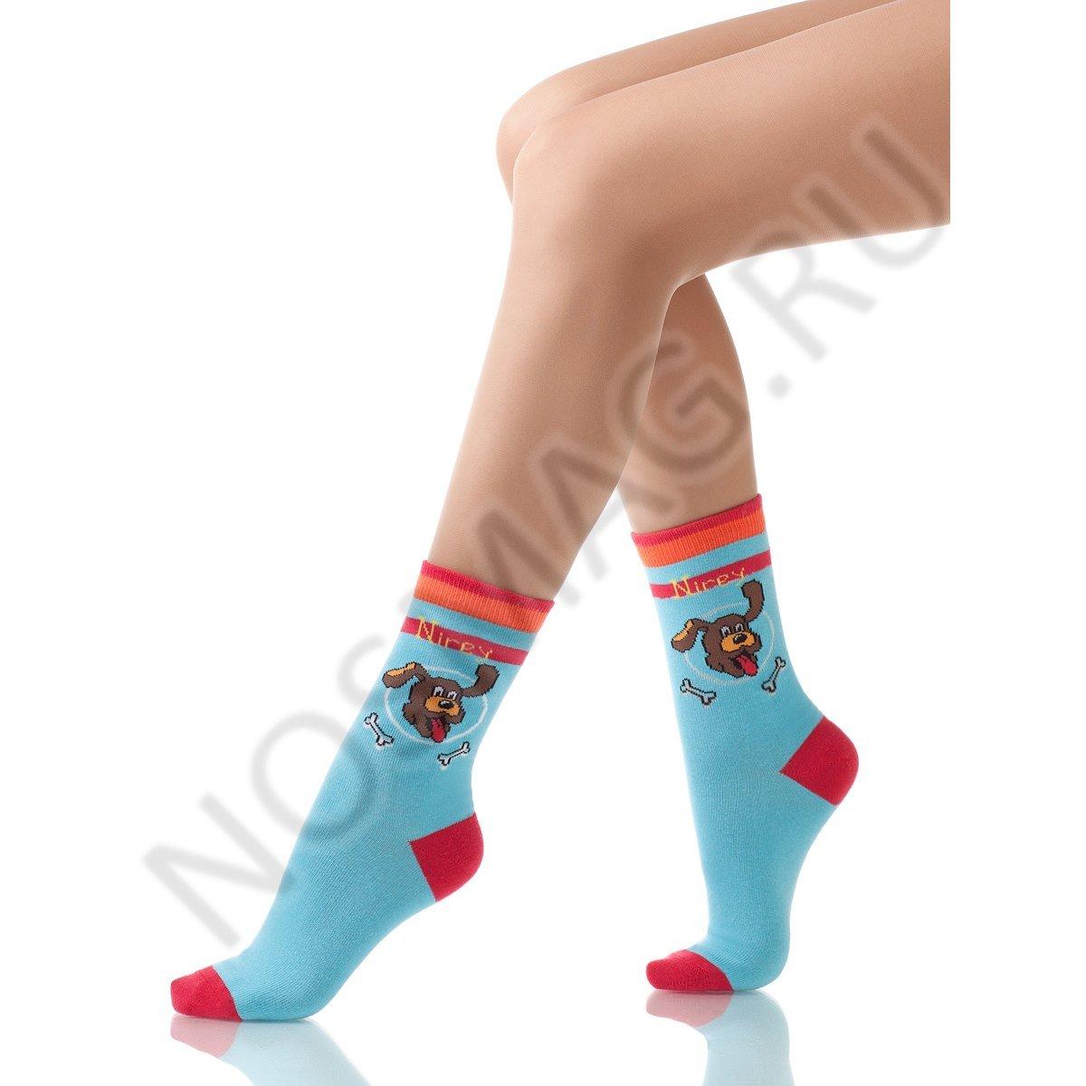 Носки детские хлопковые Charmante голубые красные