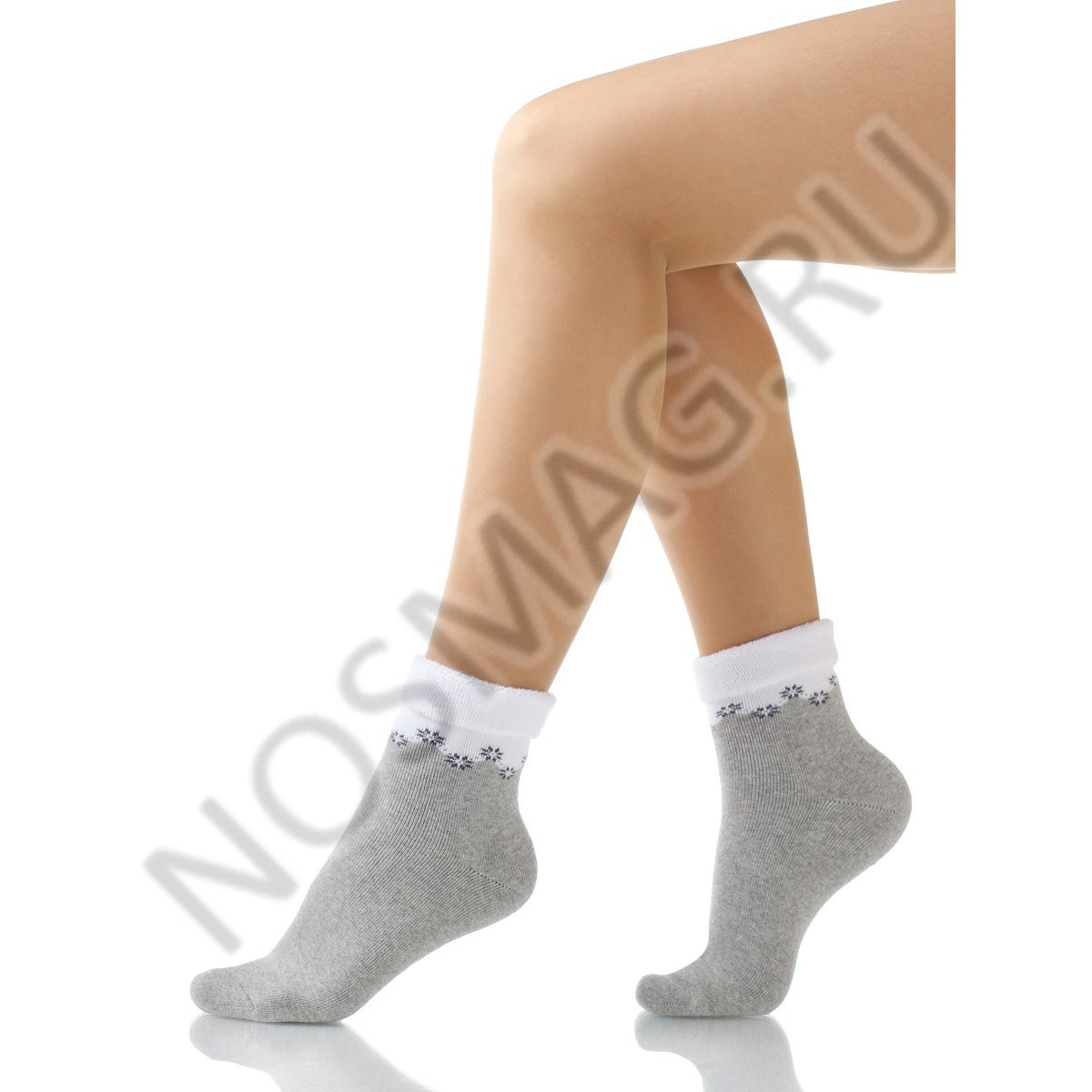 Носки женские махровые Charmante серый меланж