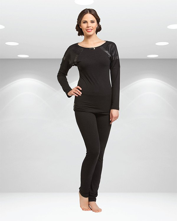 Пижама женская oztas черная