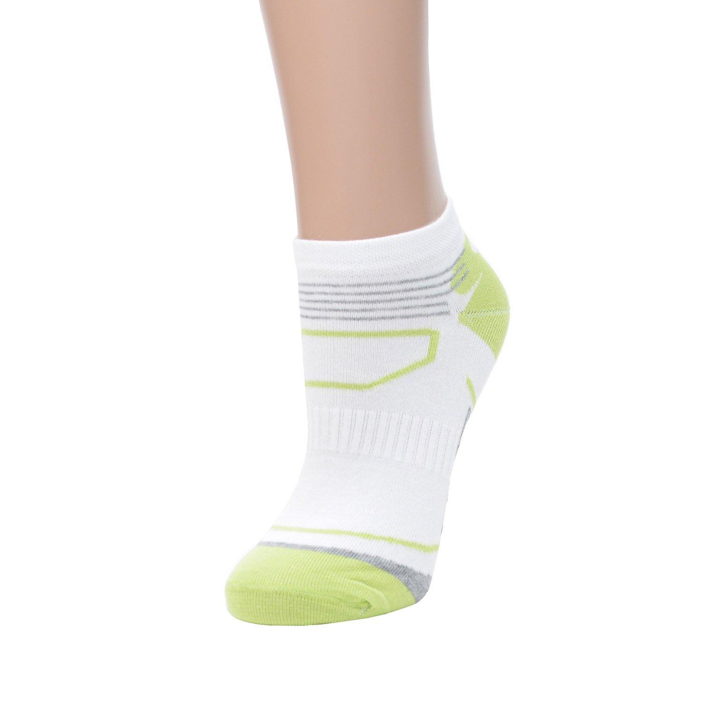 Женские хлопковые спортивные носки cornette бело-салатовые Cornette, польша