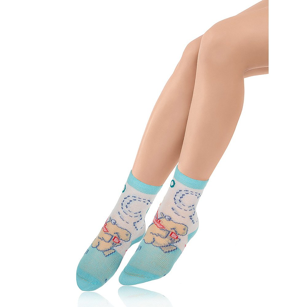 Носки детские хлопковые Charmante голубой/белый
