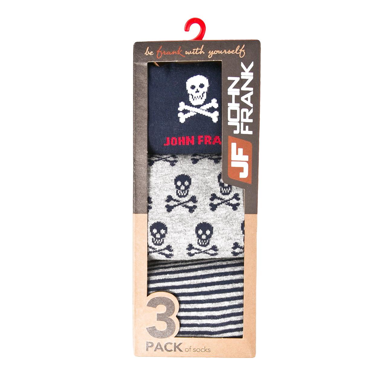 Комплект мужских носков JOHN FRANK, 3 пары