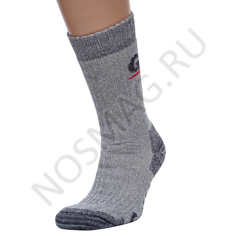 Мужские удлиненные носки guahoo серые
