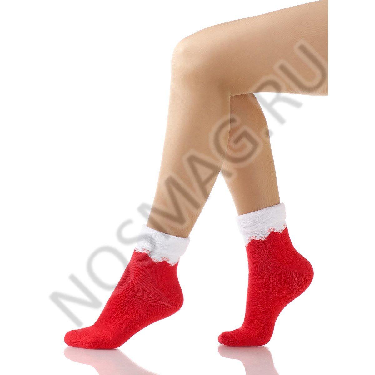 Носки женские махровые Charmante красные