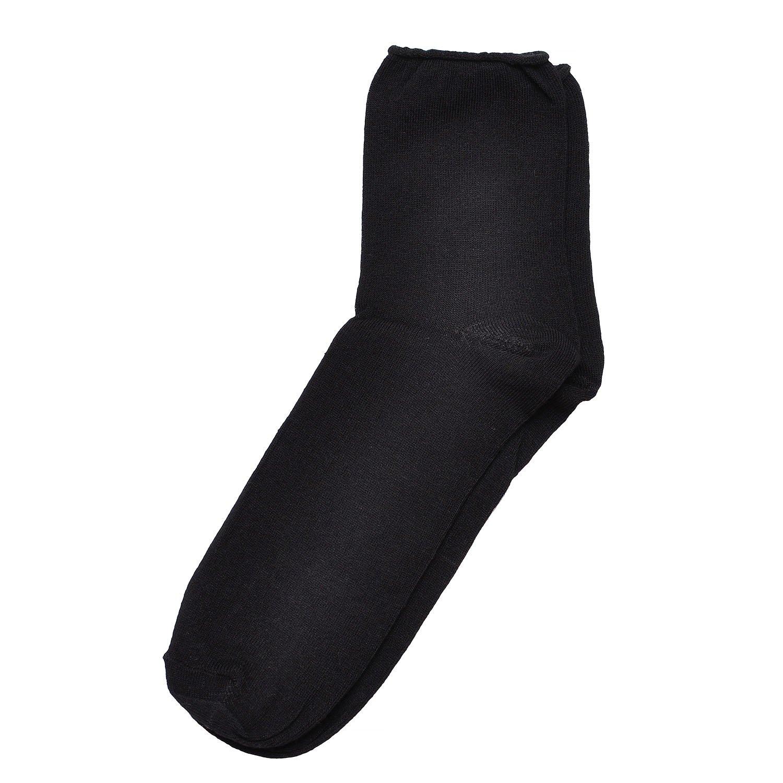 Мужские антиварикозные носки челны текстиль черные