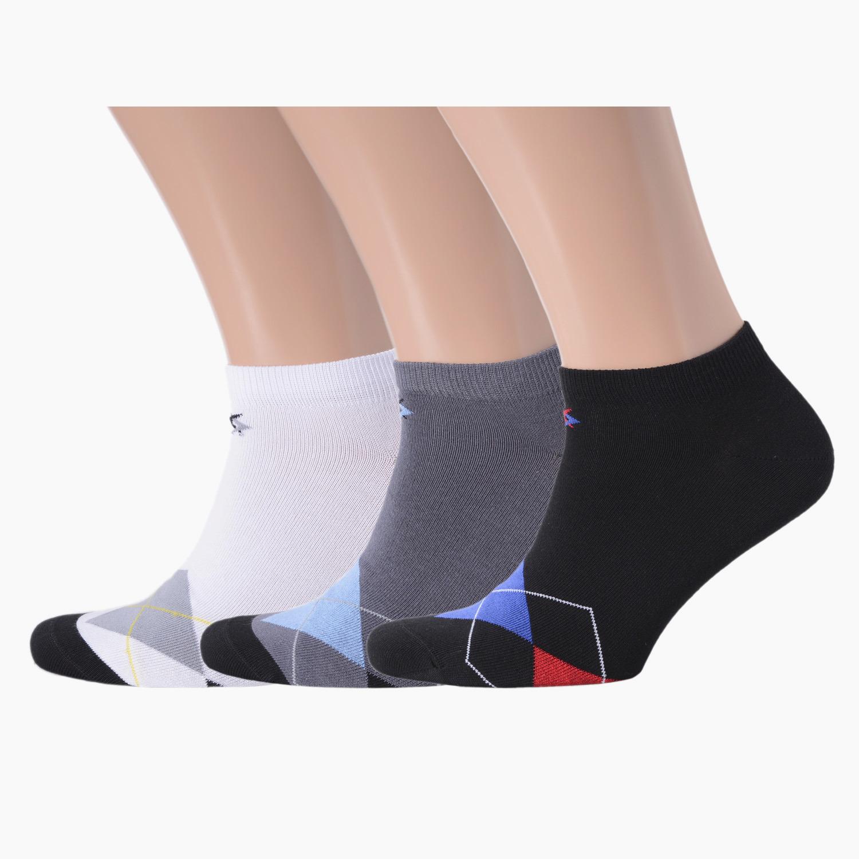 Комплект из 3 пар мужских коротких носков ХОХ