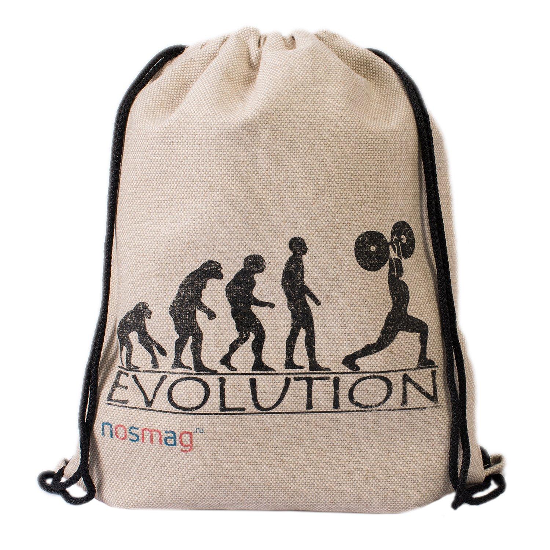 """Льняной мешок с принтом """"Evolution"""""""