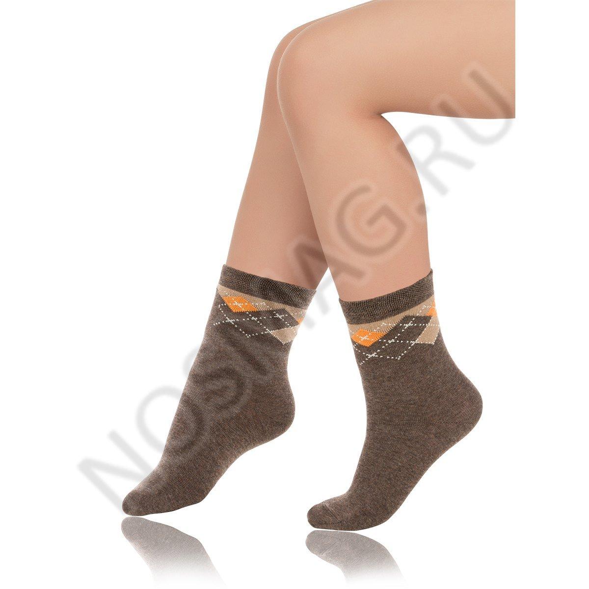 Носки детские хлопковые Charmante коричневый меланж