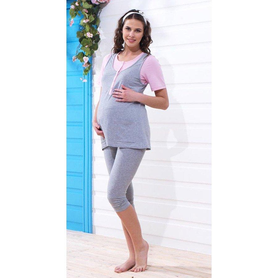 Пижама для беременных blackspade серый меланж
