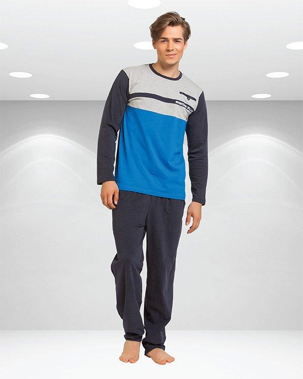 Пижама мужская oztas синяя