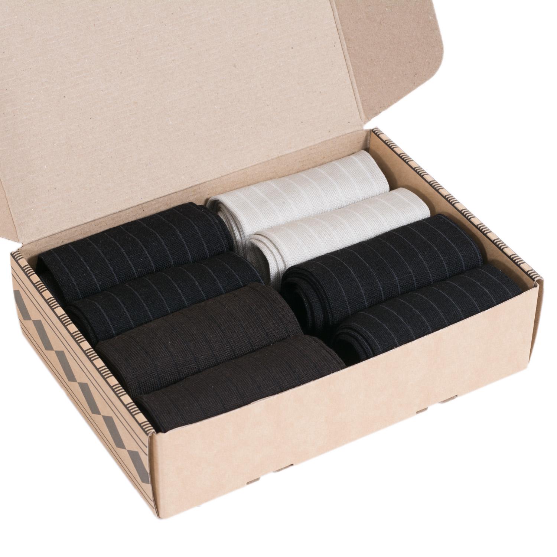Набор мужских носков из мерсеризованного хлопка, 8 пар (ТМ Grinston)