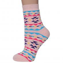 Женские махровые носки ХОХ РОЗОВЫЕ