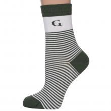 Женские бамбуковые носки Grinston socks ОЛИВКОВЫЕ